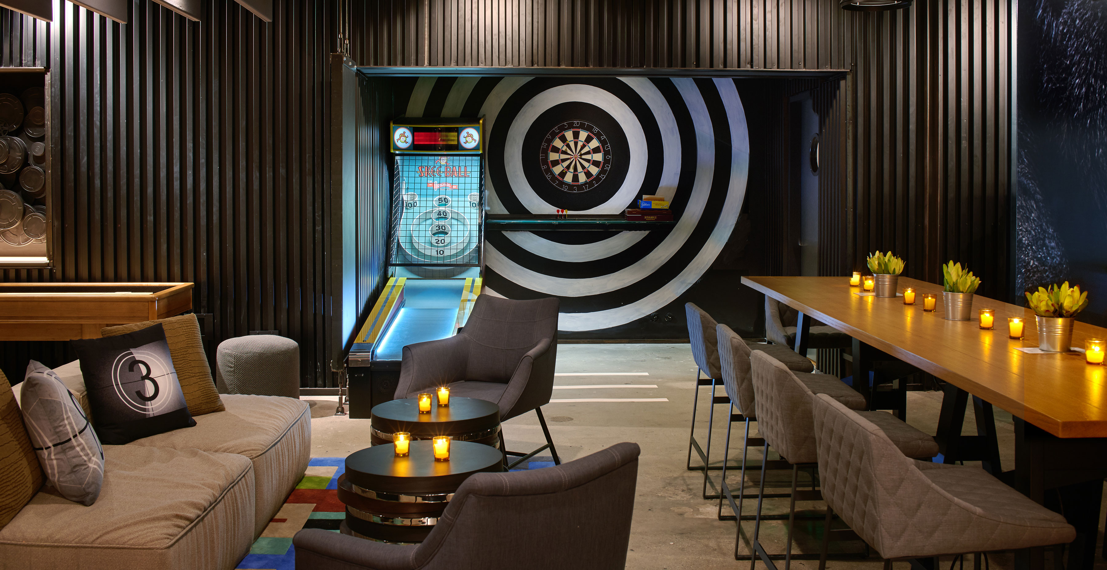 kimpton los angeles double take la game room